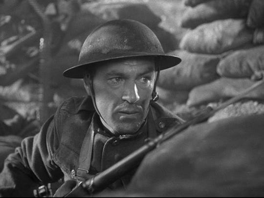 """Sergeant York"" (1941): Gary Cooper won an Oscar for his portrayal of Alvin York, a pacifist from deep in the hills who became a hero thanks to his sharpshooting. He received the Medal of Honor after killing 28 German soldiers and taking 132 prisoner. Howard Hawks again directed."