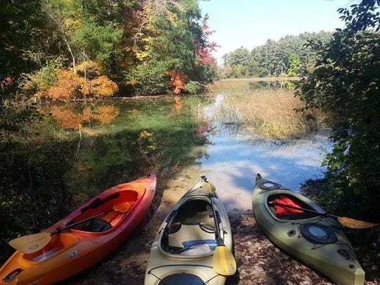 John Edlebeck enjoyed a relaxing paddle on Marl Lake at Hartman Creek State Park in Waupaca.