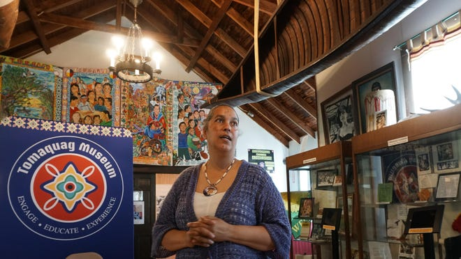 Tomaquag Museum Executive Director Lorén Spears inside the museum on Thursday.