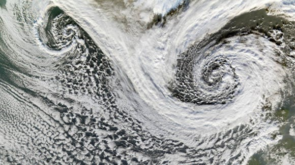 Extratropical storms near Iceland