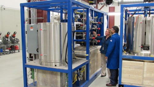 Inside GE's new fuel cell facility in New York.