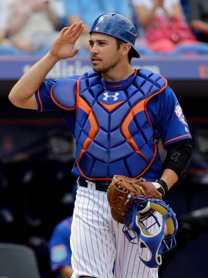 The Mets assigned a coach to work specifically on Travis d'Arnaud's throwing issues this spring, but after six weeks it seems little has changed. D'Arnaud still can't gun anyone down.