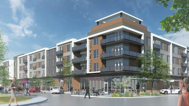 A rendering of a Fishers development that will contain live/work spaces for artists and other creatives.