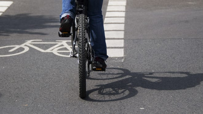 Statistics show that riding in a bike lane is safer to the bicyclist than is riding on the sidewalk.
