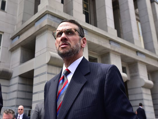 David Wildstein exits the federal courthouse in Newark