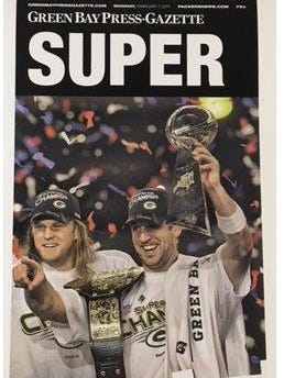 Poster from Super Bowl XLV from the Green Bay Press-Gazette