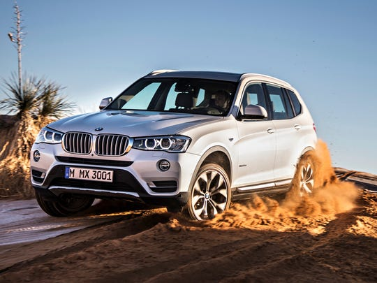 This photo provided by BMW shows the 2017 X3 compact