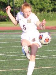 DCD defender Olivia Sappington makes a play upfield