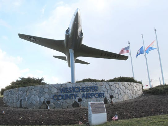 File photo/The entrance to the Westchester County Airport