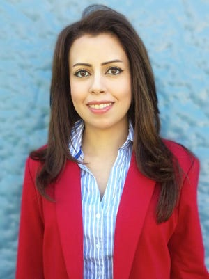"""Sara Taha, one of 20 students selected to the 2015 All-USA Community College Academic Team. Taha is an Iraqi immigrant who describes her community college experience as """"riding a rescue ship to salvation."""""""