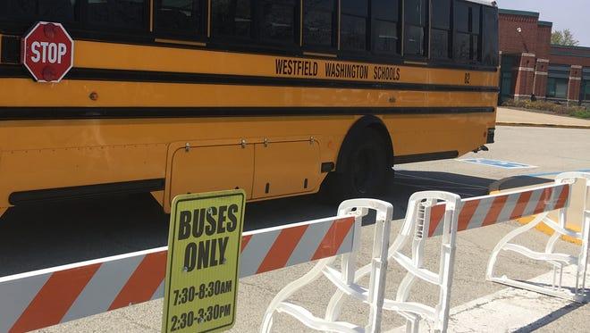 A Westfield-Washington Schools bus