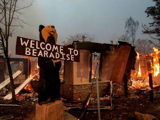 Black Bear Diner in Paradise destroyed