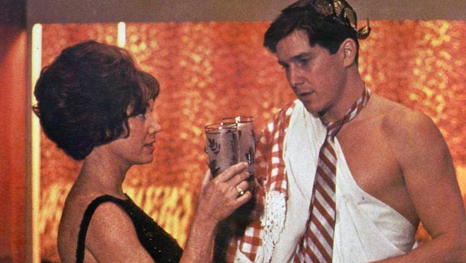 """Toga! Toga! Toga!"" Verna Bloom as Marion Wormer and Tim Matheson as Eric Stratton in the 1978 comedy ""Animal House."""