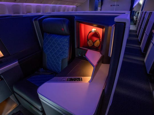 Delta's refreshed 777 aircraft include 28 award-winning Delta One Suites, designed for exceptional customer comfort and privacy.