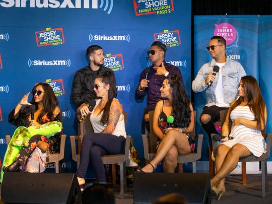 Cast members of MTV's Jersey Shore Family Vacation