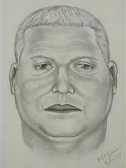 A composite sketch by investigators of one of the suspects in a heist of millions of dollars in gold bars from a truck on a North Carolina interstate highway on Sunday. Authorities have said that three armed robbers drove up while the truck was having mechanical problems and stole 275 pounds of gold bars worth $4.8 million.