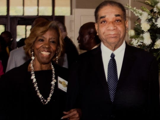 Eleanor Dawkins and David Ross, Jr., at Ross - Clayton Funeral Home in Montgomery, Ala.