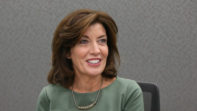 New York State Lt. Governor Kathy Hochul speaks with the editorial board at the Democrat and Chronicle in Rochester, NY.