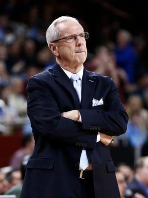 North Carolina Tar Heels head coach Roy Williams.