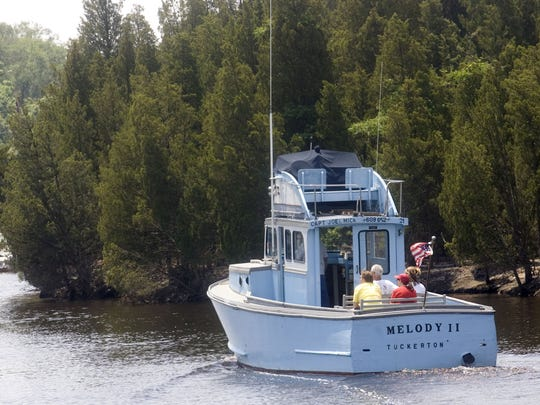 Melody II takes passengers for a ride up the Tuckerton