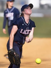 Lacey pitcher Chelsea Howard.  Lacey softball vs Toms River South in Toms River NJ on April 15, 2016