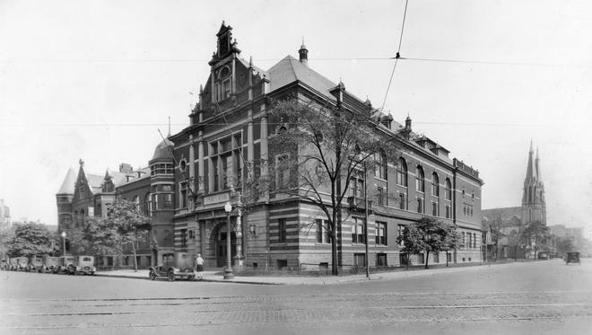 The Athenaeum, at 401 East Michigan Street, was originally named Das Deutsche Haus when the east wing was constructed 1893-94. The name was changed in 1918 due to anti-German sentiment during World War I.