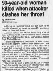 News clipping from Feb. 15,1991 Rochester Democrat
