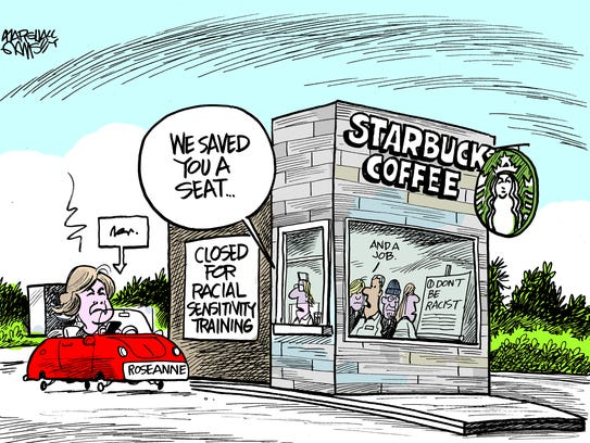Roseanne needs to stop by her local Starbucks.