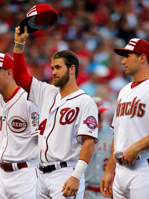 Bryce Harper is hitting .218, but has 21 home runs and deserves a bow with his hometown team.