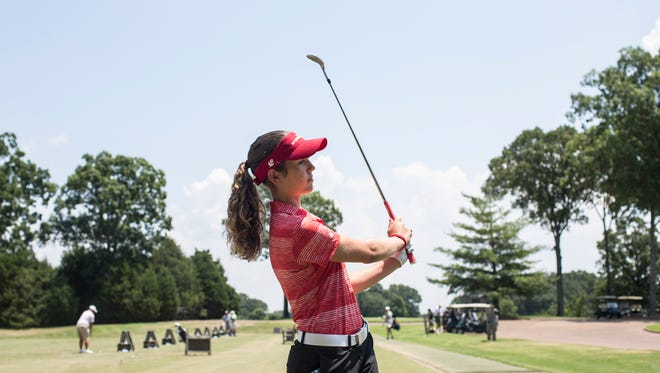 July 20, 2017 - Rachel Heck, a St. Agnes sophomore, 15, was the youngest competitor at Trump National Golf Club in Bedminster, N.J.,this week and shot even-par for the second straight day to finish at 2-over for the tournament.