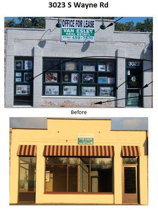 facade grant before and after