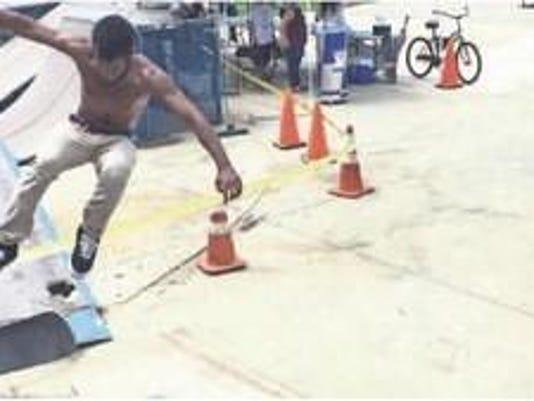 Skater at City of Poughkeepsie skate park