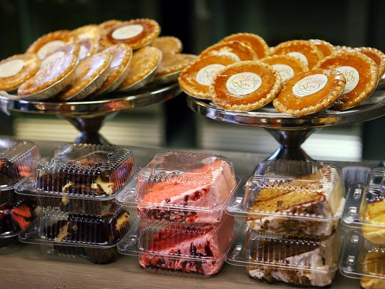 Pies and cakes decorate the front counter at O' Taste & See on East Brooks Road. The small sandwich shop offers lots of good stuff like quiche, mini pies, salads, and cheesecake brownies made by owner Barbara Jackson, a former school teacher who felt called to open a restaurant.