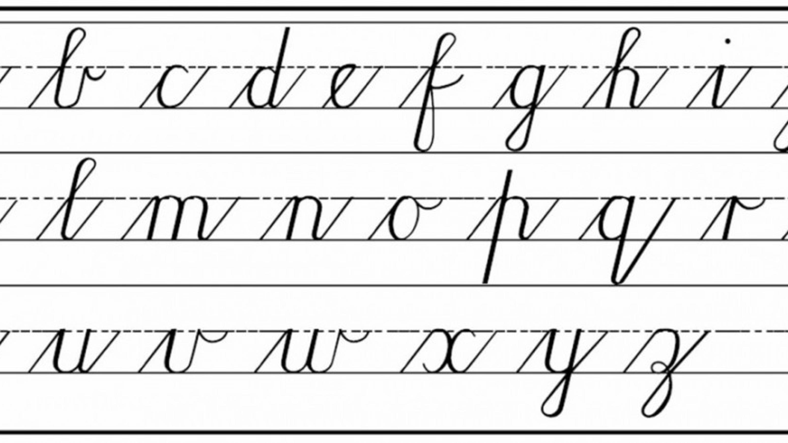 teach cursive writing