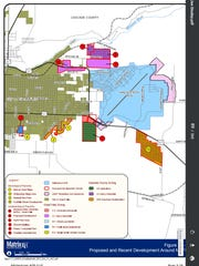 A 2012 map of development adjacent to Malmstrom Air