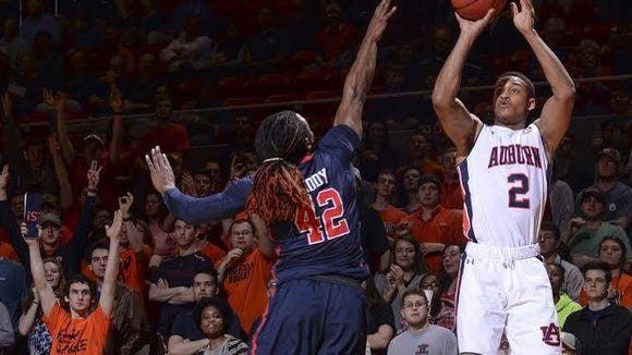 Auburn guard Bryce Brown was held to just nine points on 3 of 11 shooting in the Tigers 69-59 loss to Ole Miss on Feb. 20.