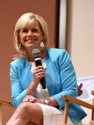 Gretchen Carlson speaks during Women at the Top: Female