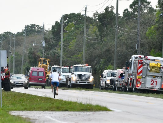 Fire off of Adamson Road in Canaveral Groves