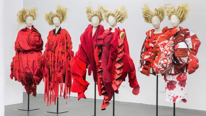 "Part of Section 9, ""Clothes/Not Clothes: War/Peace"" in the Rei Kawakubo / Comme des Garçons exhibit at the Met."