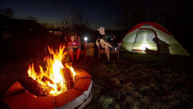 """Going camping doesn't have to be a destination trip. Instead, during this time of social distancing to prevent the spread of COVID-19 in the community, camping enthusiasts need only look to their home or backyard for the ultimate """"getaway."""""""