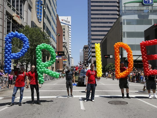 Employees of Jack Casino were one of more than a hundred groups to participate in the annual Cincinnati Pride Parade last year.