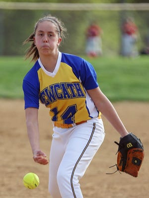 Haley Meyers has been pitching well for a NewCath team that won its sixth consecutive game on Monday.