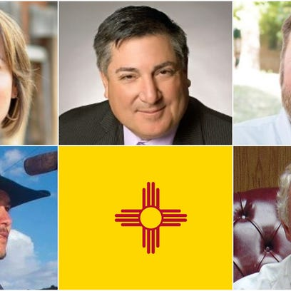New Mexico Land Commissioner candidates, from top left,