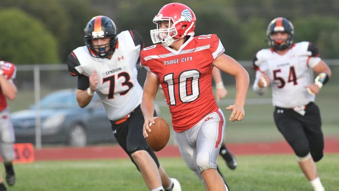 Osage City sophomore Landon Boss has had a big year for the Indians, leading them to a 4-1 record. Boss has thrown for 767 yards and 13 touchdowns and also run for another 422 yards and three scores.