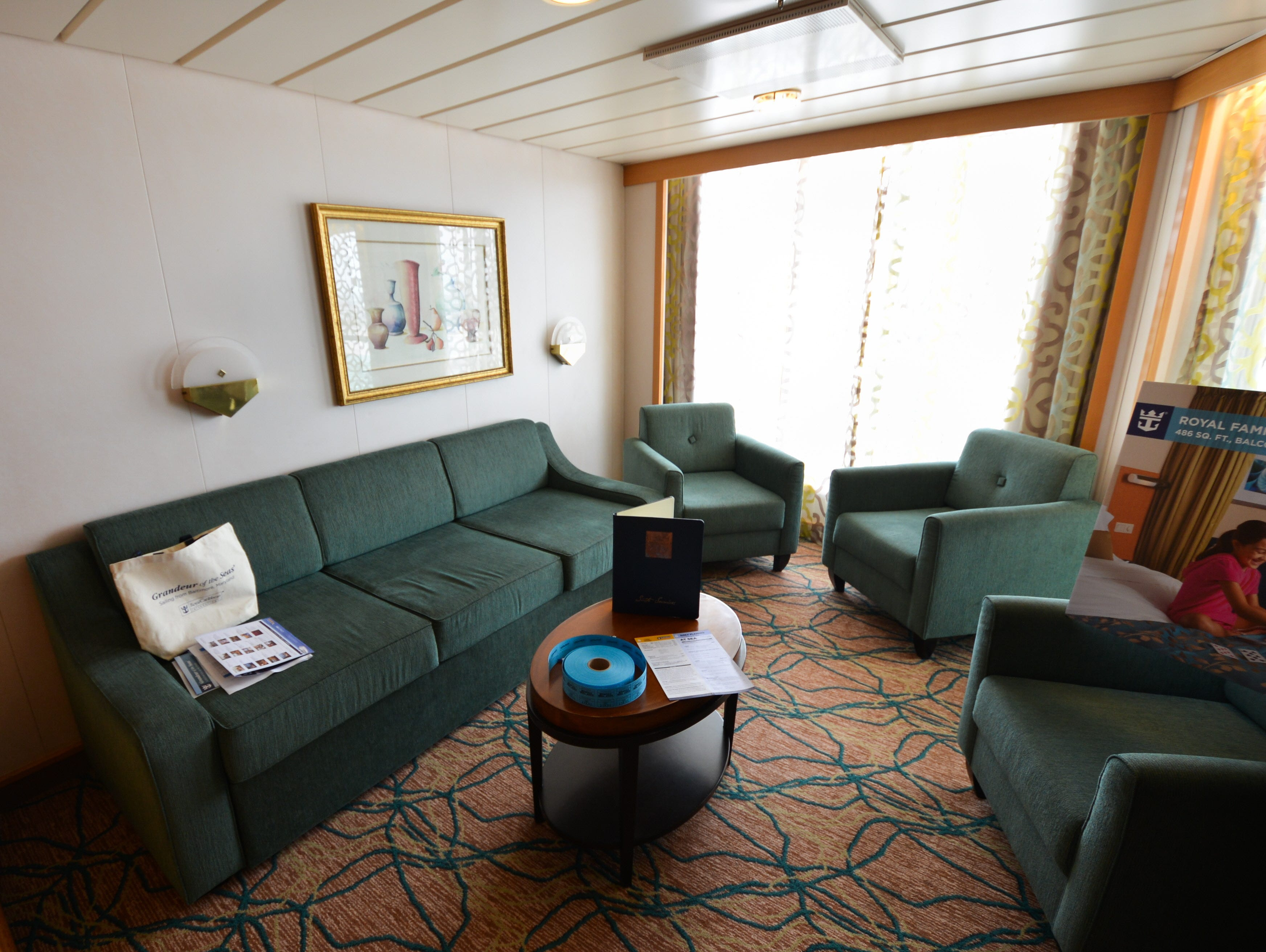 Among the larger cabins on Grandeur of the Seas are its four Royal Family Suites with Balconies, which feature two bedrooms and two bathrooms.