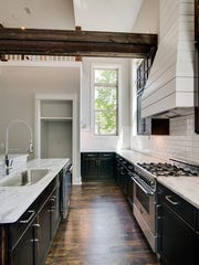 The kitchen inside a newly built home at 1900 Electric