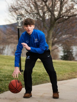 Wallkill's Kyle Krebs poses for a portrait before his game during the Slam Dunk Heart Disease Games at Mount Saint Mary College in Newburgh, NY on Sunday, January 5th, 2020. KELLY MARSH/FOR THE TIMES HERALD-RECORD