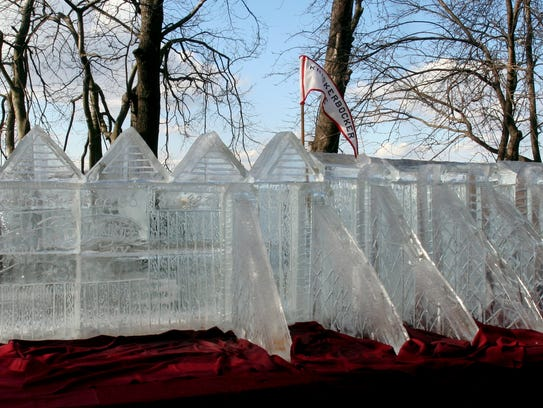 A replica of  Ice House No. 3 was a centerpiece of