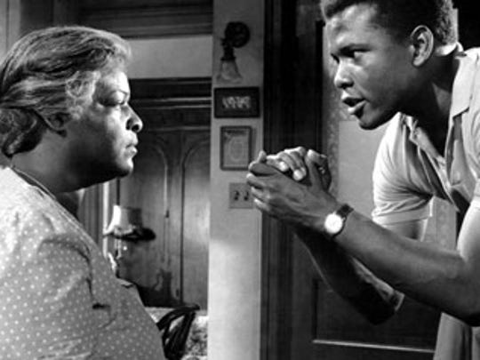 "Claudia McNeil and Sidney Poitier star in ""A Raisin in the Sun,"" playing Saturday at the Capitol Theatre."