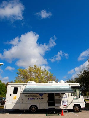 Memory screenings are done inside the Alzheimer's Association's Florida Gulf Coast Chapter memory mobile.